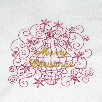 MERRY CHRISTMAS ORNAMENT RW 4X4