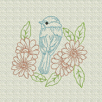 SPRING BIRD in Colorline 4x4