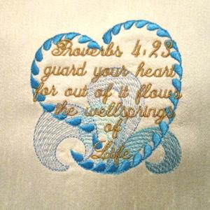 Proverb 4v23 Heart 4x4