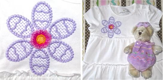 Easter - embroidery - eggs - flower - petals - fringed- design