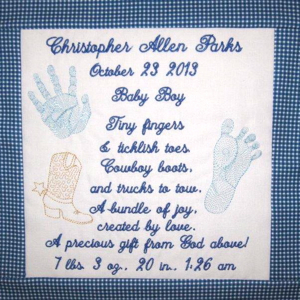 PERSONALIZED BABY BOY  BIRTH ANNOUNCEMENT & POEM
